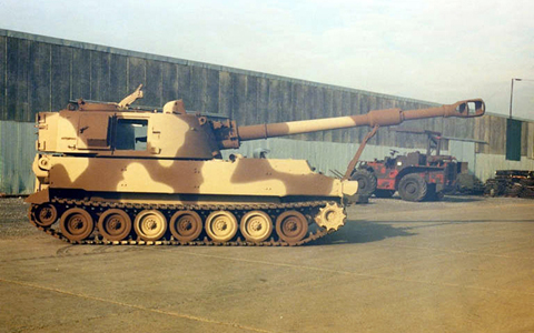 M109 155mm Self Propelled Howitzer